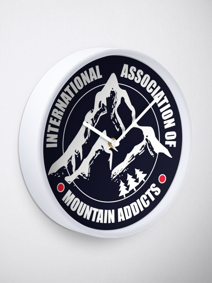 Alternate view of International Association of Mountain addicts badge Clock