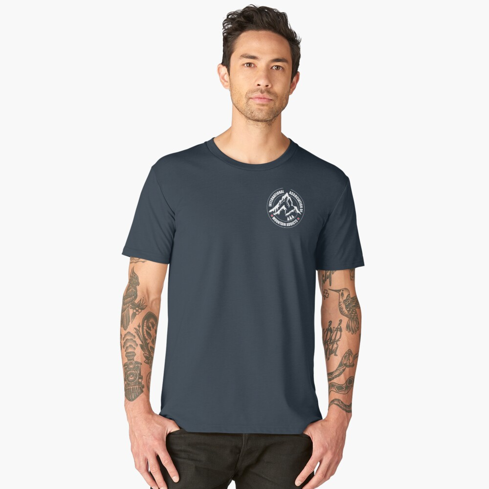 International Association of Mountain addicts badge Men's Premium T-Shirt Front