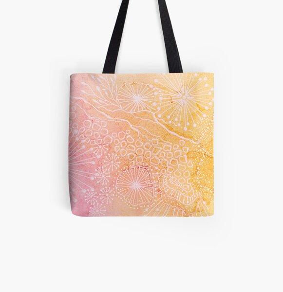 Floating orange Allover-Print Tote Bag