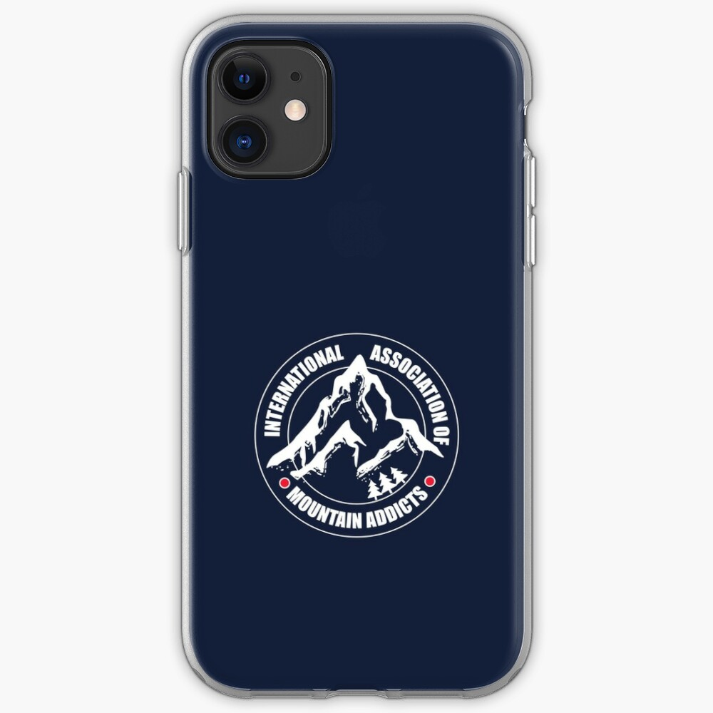International Association of Mountain addicts badge iPhone Case & Cover