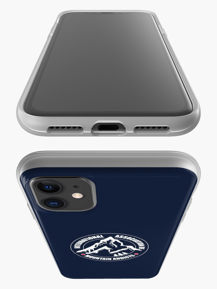 Alternate view of International Association of Mountain addicts badge iPhone Case & Cover