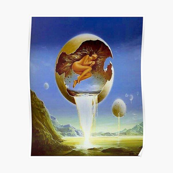 BIRTH : Vintage Dali Surreal Egg Print Poster