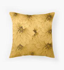 Golden Dahlias Flower Art Floor Pillow