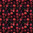 Cherries on black background. by StefaStefo4ka