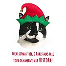 Carolling Christmas Furries – Tuxedo Cat (red text) by RulaVam