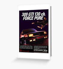 PEUGEOT 309 GTI Greeting Card