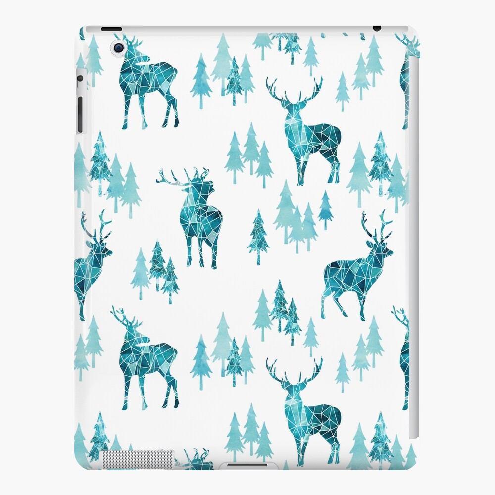 Ice Forest Deer iPad Case & Skin