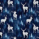 Snow Deer Blue by adenaJ