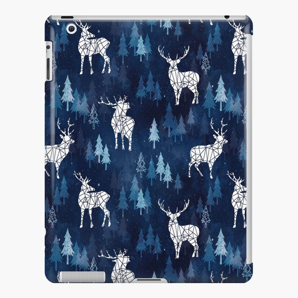 Snow Deer Blue iPad Case & Skin