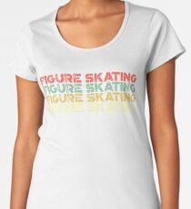 Camiseta premium para mujer Patinaje artístico vintage - Patinaje artístico retro