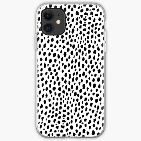 Dalmatian Spots (black/white) iPhone Soft Case