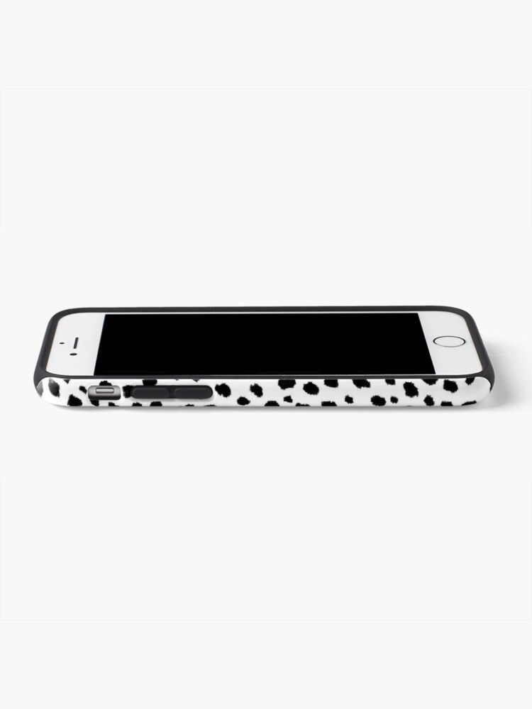 Alternate view of Dalmatian Spots (black/white) iPhone Case & Cover