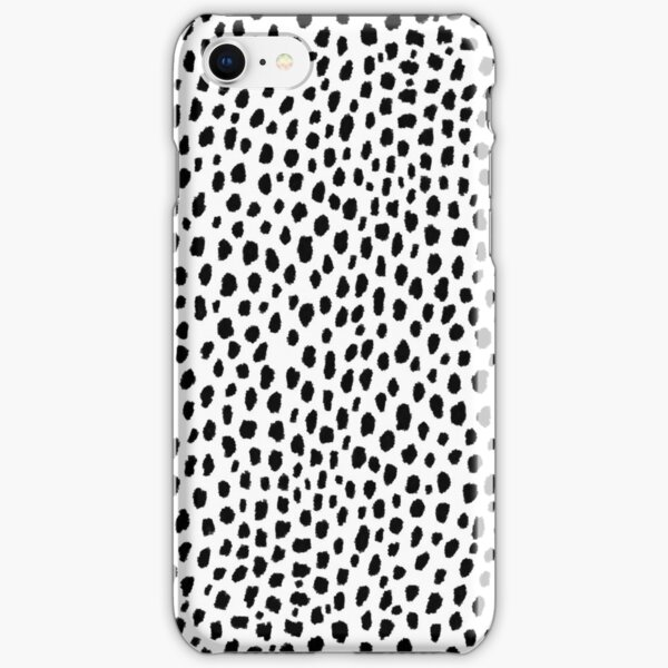 Dalmatian Spots (black/white) iPhone Snap Case