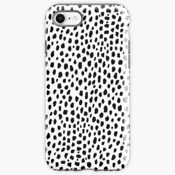 Dalmatian Spots (black/white) iPhone Tough Case