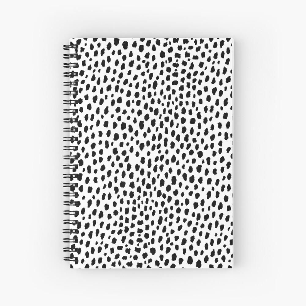 Dalmatian Spots (black/white) Spiral Notebook