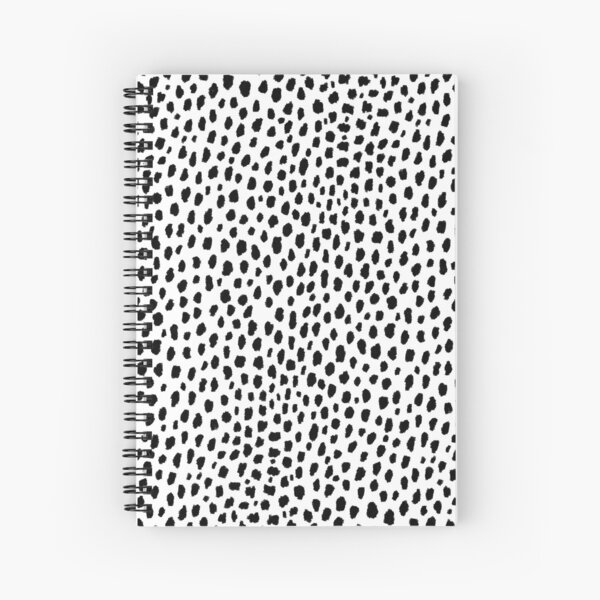 Dalmatian Spots (black/white) Spiral Notebook