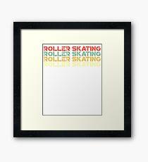 vintage roller skating - retro roller skating  Framed Print