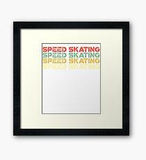 vintage speed skating - retro speed skating  Framed Print