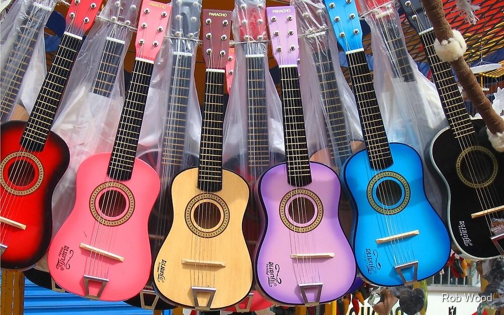 Guitar Rainbow by Rob Wood