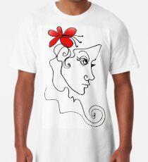 Blumenmädchen - Line Art Longshirt