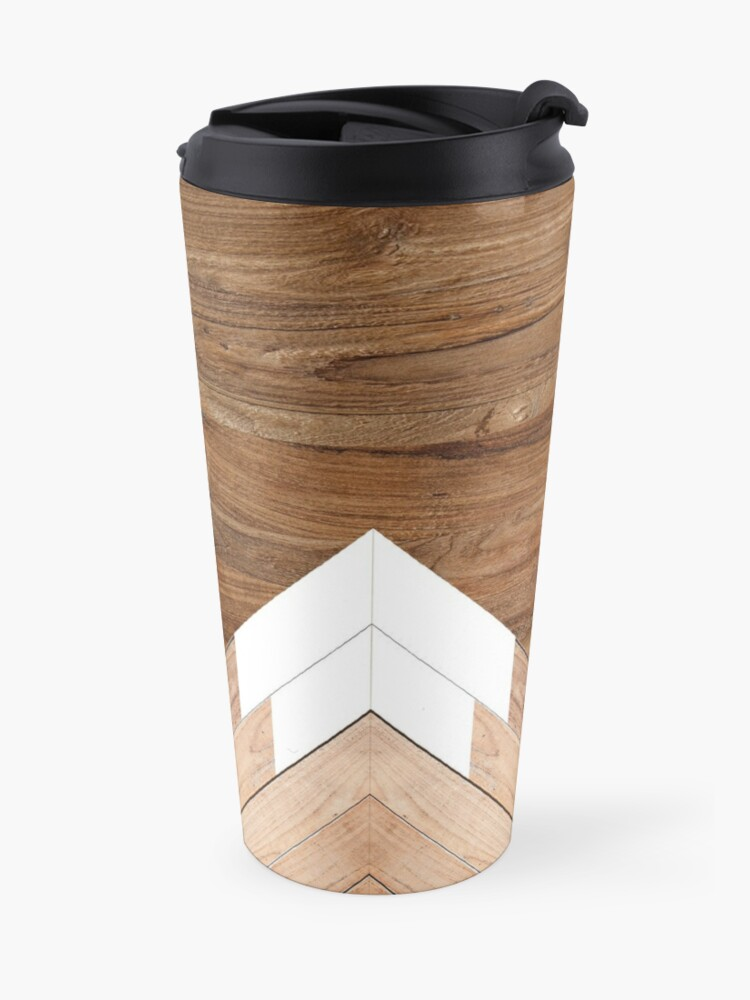 Alternate view of Wooden snow-capped mountains Travel Mug