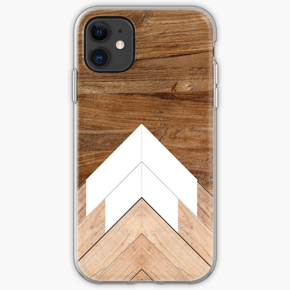 Wooden snow-capped mountains iPhone Case & Cover