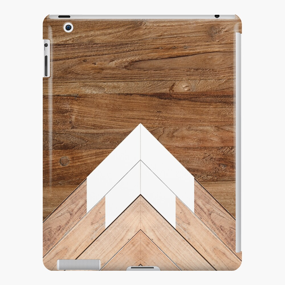 Wooden snow-capped mountains iPad Case & Skin