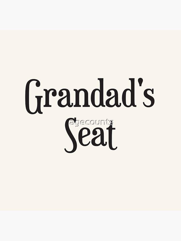Grandad's Seat Cushion by agecounts