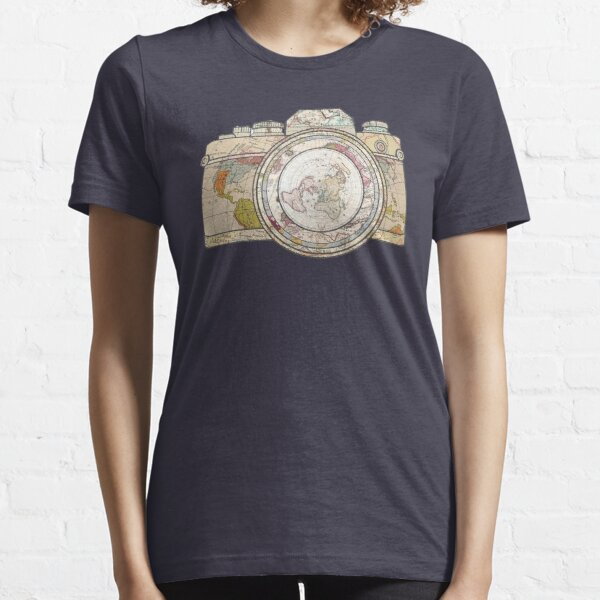 Map Camera Body and Lense Vintage Look Essential T-Shirt