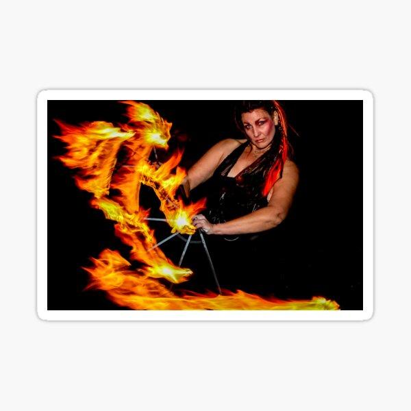 Erotic Fire Dancer Sticker