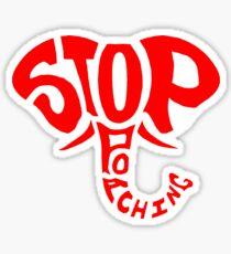 Stop Poaching Elephant: Red Sticker