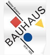 Bauhaus Movement Poster Artwork, 1919 Walter Gropius Reproduktion, Tshirt, T-Shirt, Jersey, Poster, Artwork Poster