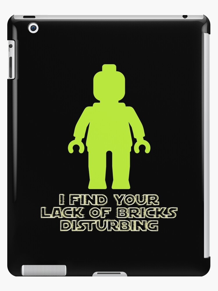 """""""I Find Your Lack of Bricks Disturbing"""" by Customize My Minifig by Customize My Minifig"""