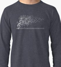 The Sound of Nature In Motion - White Lightweight Sweatshirt