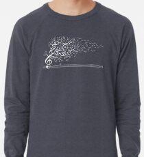 Der Klang der Natur in Bewegung - Weiß Leichter Pullover