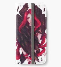 Schwarze Flügel iPhone Flip-Case/Hülle/Skin