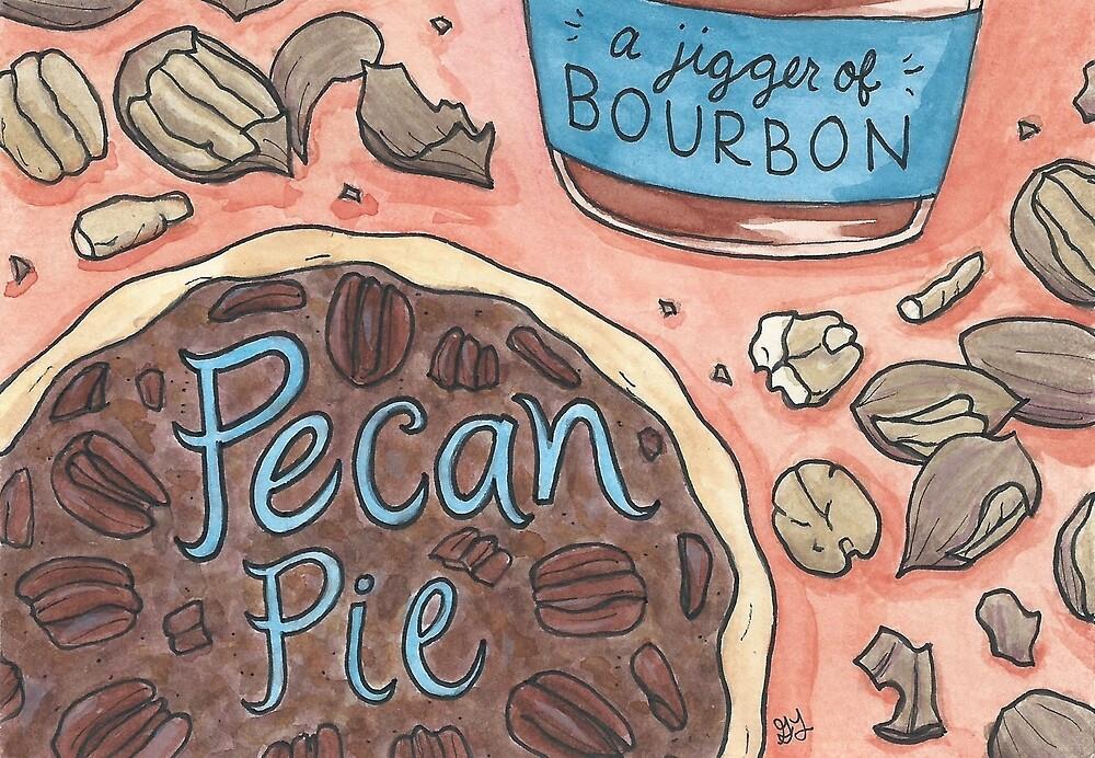 Pecan Pie & a Jigger of Bourbon by Gina Lorubbio