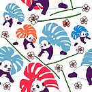 Panda Monstera von Notsniw Art