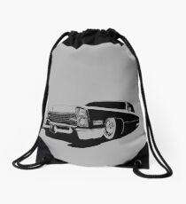 1967 Cadillac Coupe Deville - stylized monochrome Drawstring Bag