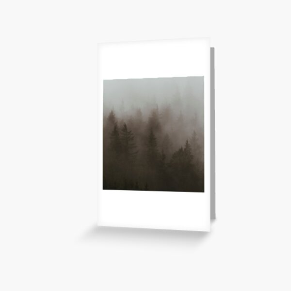 Forêt Brumeuse Carte de vœux