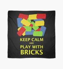 KEEP CALM AND PLAY WITH BRICKS Scarf