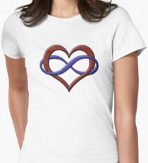 Polyamory Pride Infinity Heart Women's Fitted T-Shirt