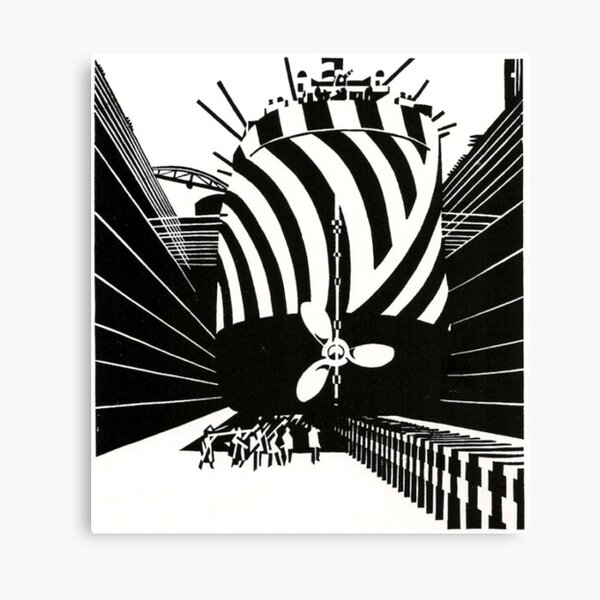 Edward Wadsworth dazzle ships 2 - black and white camouflage Canvas Print