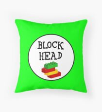 BLOCK HEAD Throw Pillow