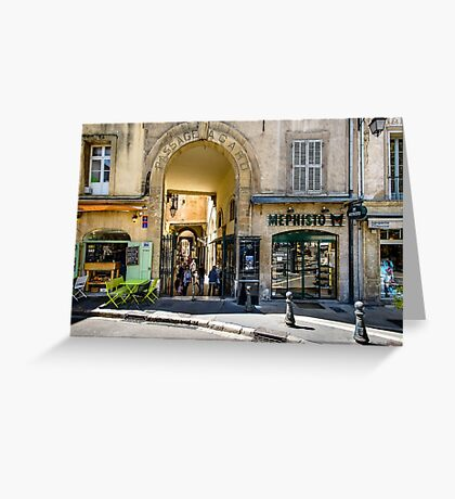 Passage Agard, Aix-en-Provence  Greeting Card