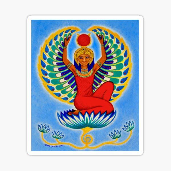 Winged Isis Egyptian Goddess Auset Sticker