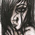 Charcoal portrait #3 by Rachel Kelly