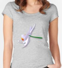Orchid side Women's Fitted Scoop T-Shirt