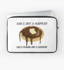 Can I please get a waffle? Laptop Sleeve