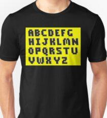 Brick Font Alphabet T-Shirt